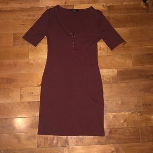 Tight burgundy forever 21 slip dress
